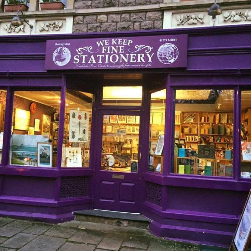 Saker Stationery shopfront