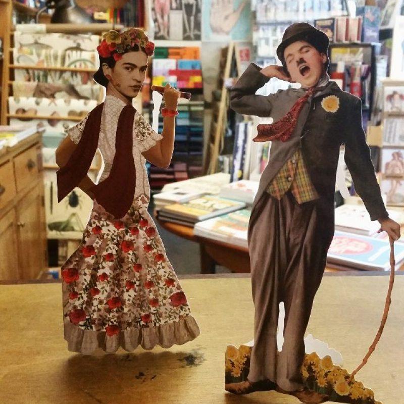 Saker Stationery Frida Khalo Charlie Chaplin
